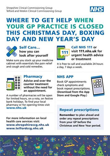 - Where to get help over Christmas when your GP is closed